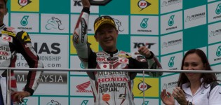 Tamada achieves podium finish